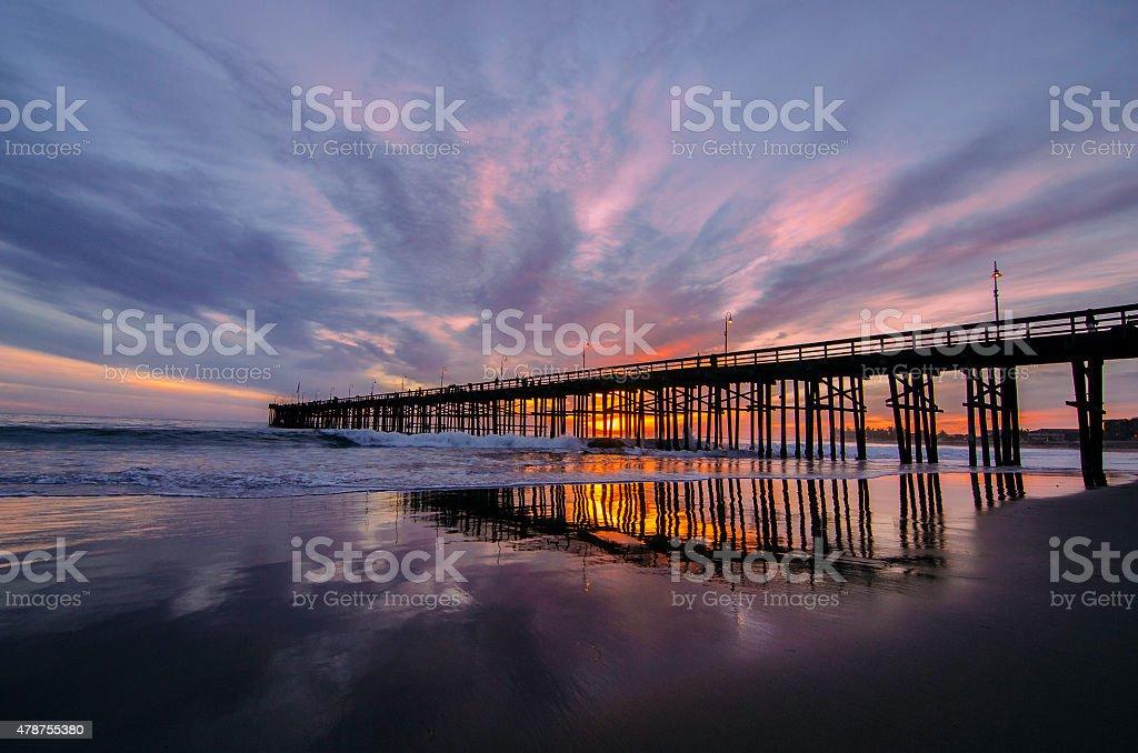 Sunset at Oxnard stock photo
