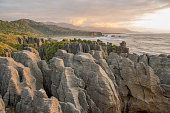 Sunset at Pancake Rocks, South Island, NZ