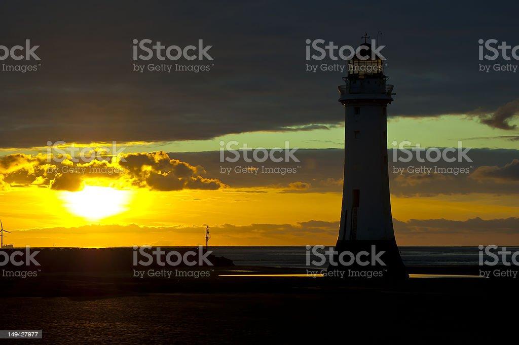 Sunset at Perch Rock stock photo
