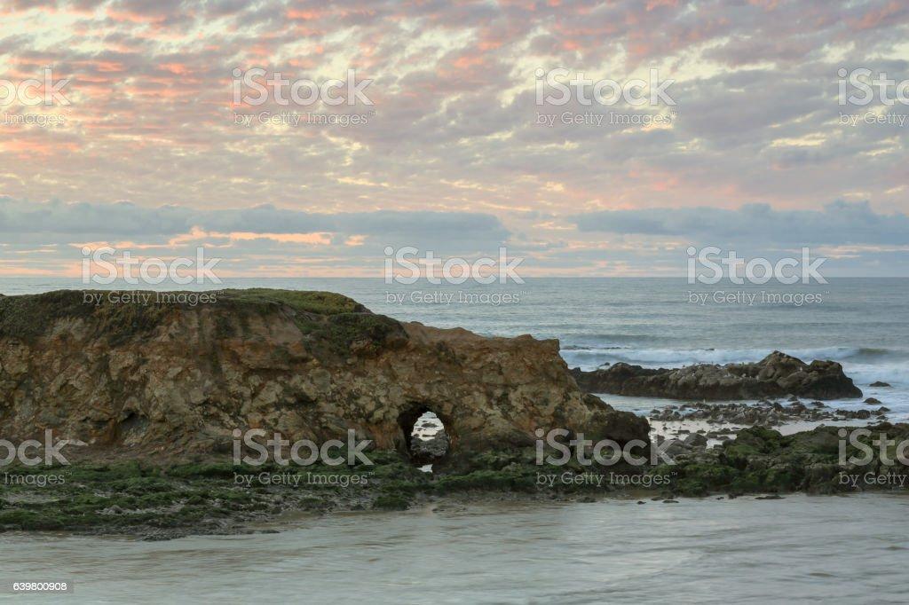 Sunset at Pescadero State Beach stock photo