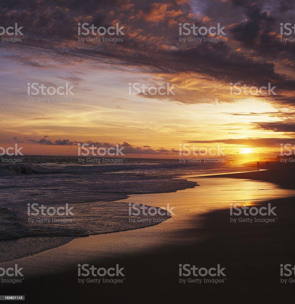 Sunset at Pie de la Cuesta, Acapulco, Guerrero, Mexico stock photo