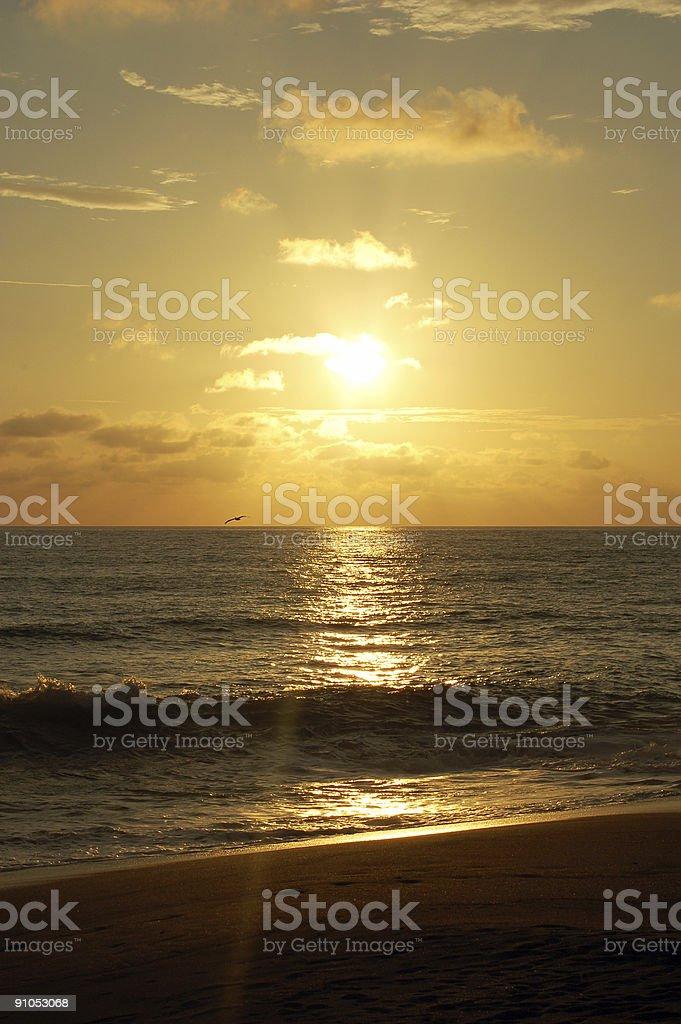 Sunset at Playa Hermosa royalty-free stock photo