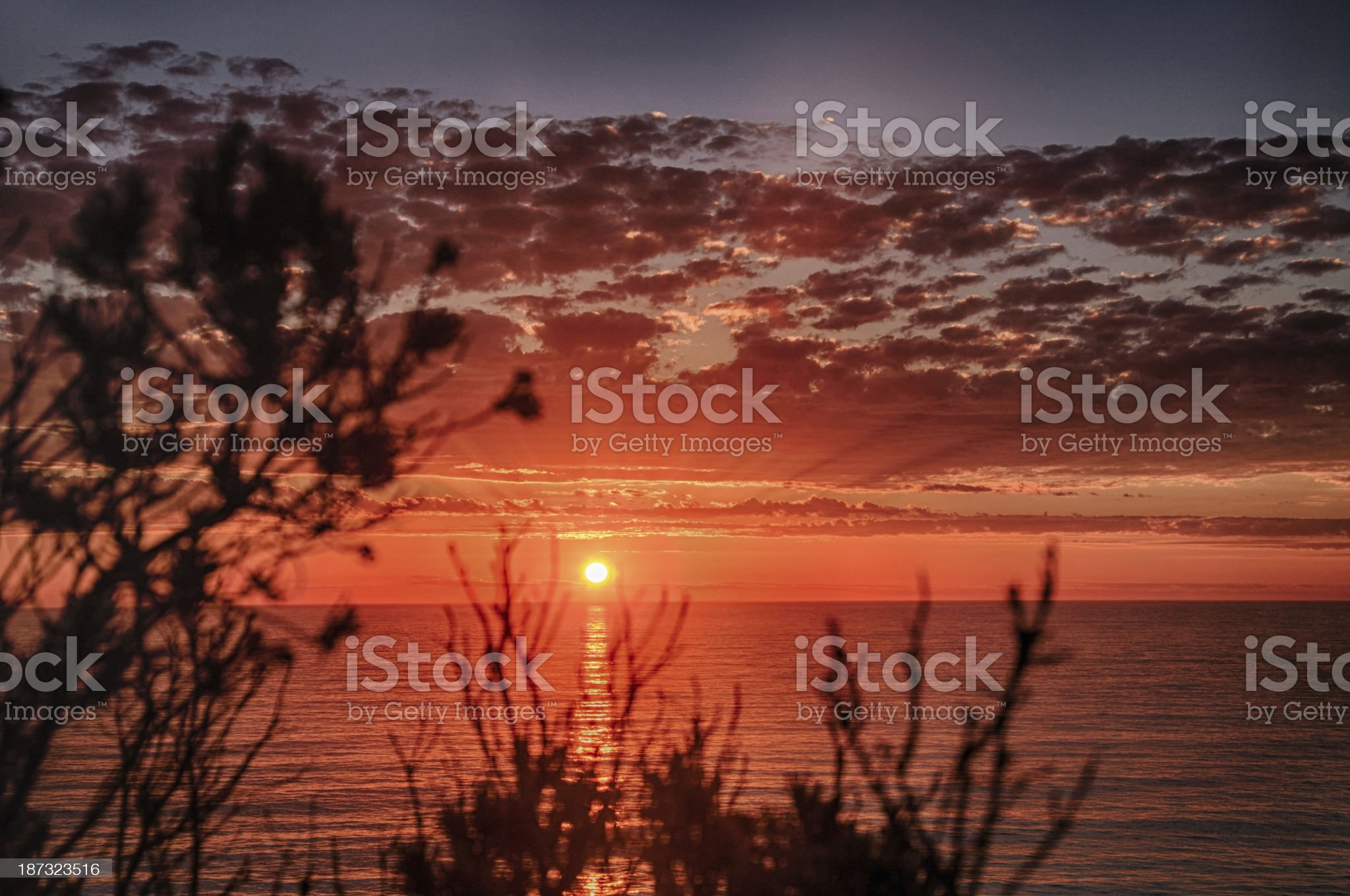 Sunset at Port Campbell National Park royalty-free stock photo