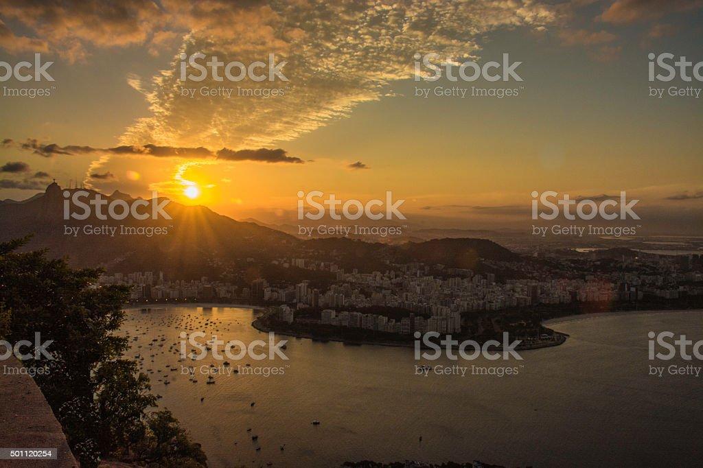 Sunset at Rio de Janeiro II stock photo
