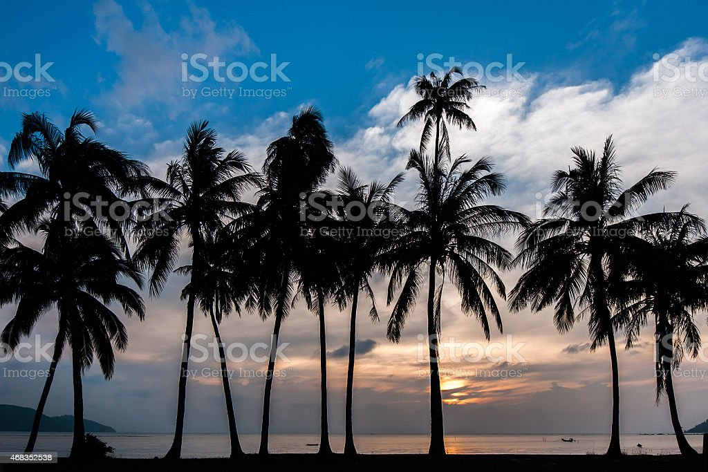 Coucher de soleil sur l'île de Samui photo libre de droits
