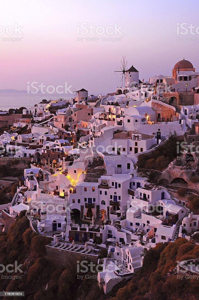 Sunset at Santorini, Greece royalty-free stock photo