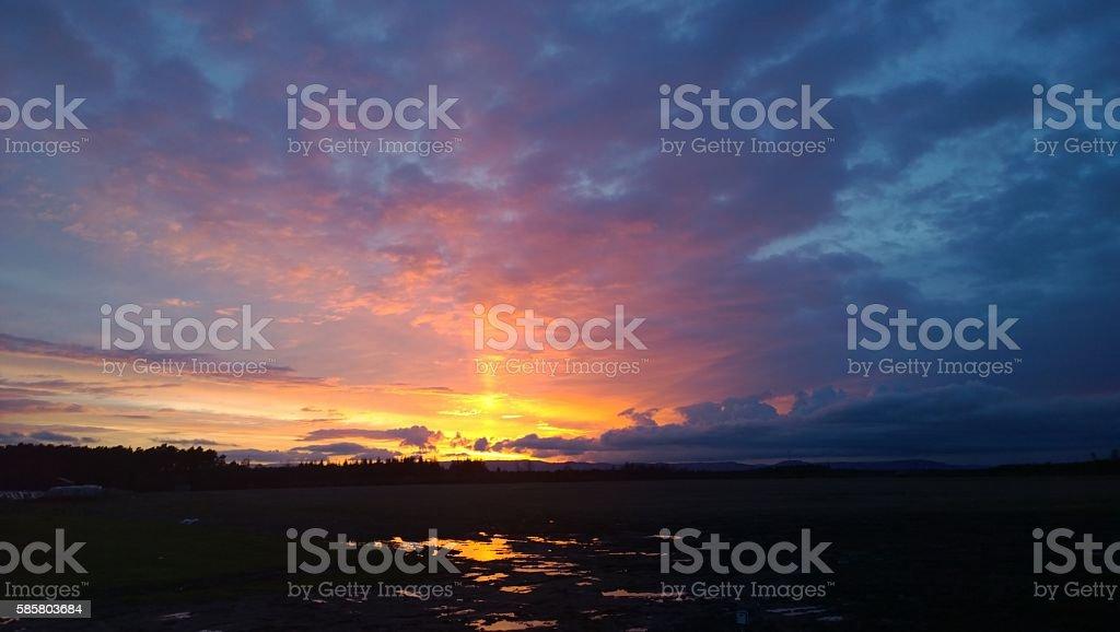 Sunset at Scone stock photo