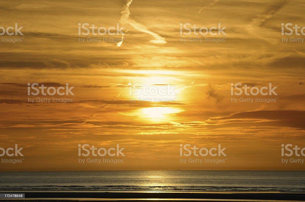 sunset at sea royalty-free stock photo