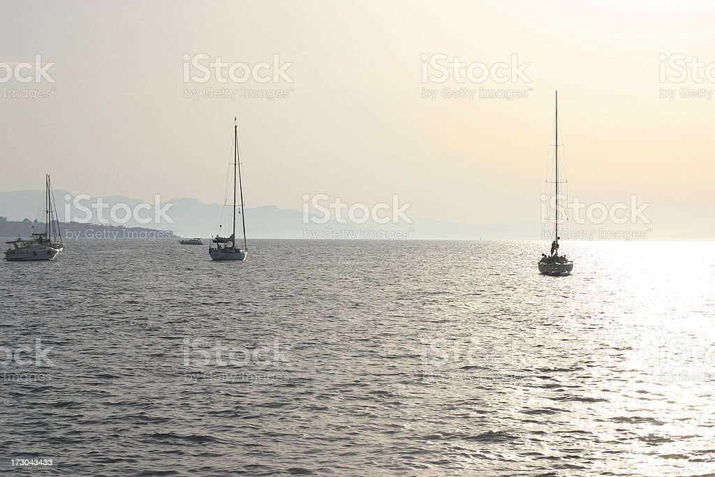 sunset at sea royalty-free stock photo
