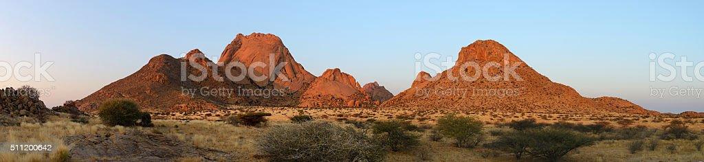 Sunset at Spitzkoppe, Namib, Namibia stock photo
