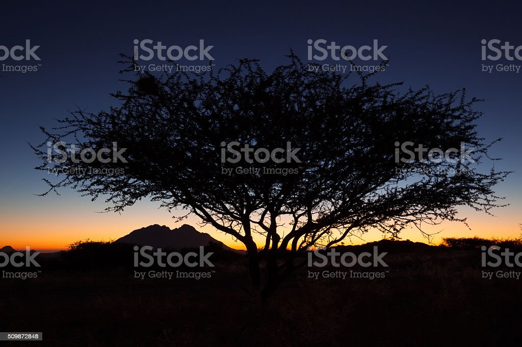 Sunset at Spitzkoppe stock photo