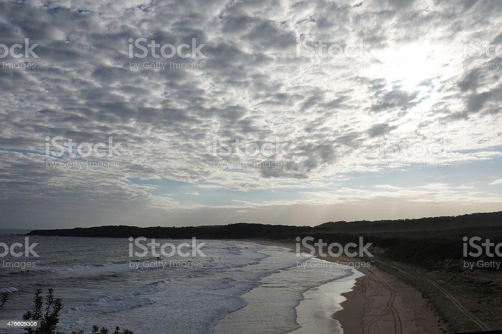 Sunset at Sugarloaf Point, Australia stock photo
