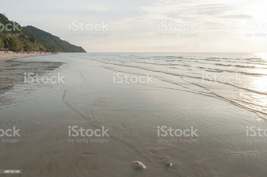 Sunset at the Beach royalty-free stock photo