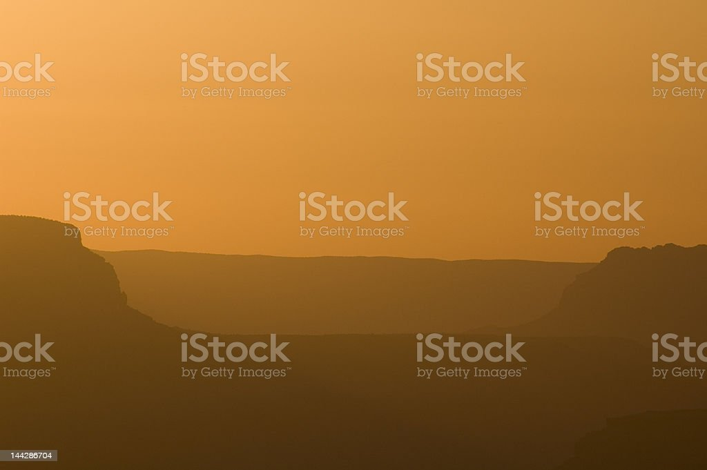 Sunset at the Canyon royalty-free stock photo
