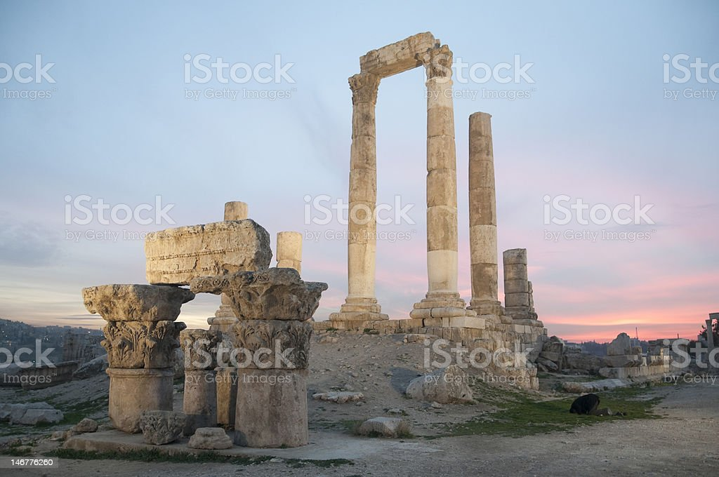 Sunset at the citadel royalty-free stock photo