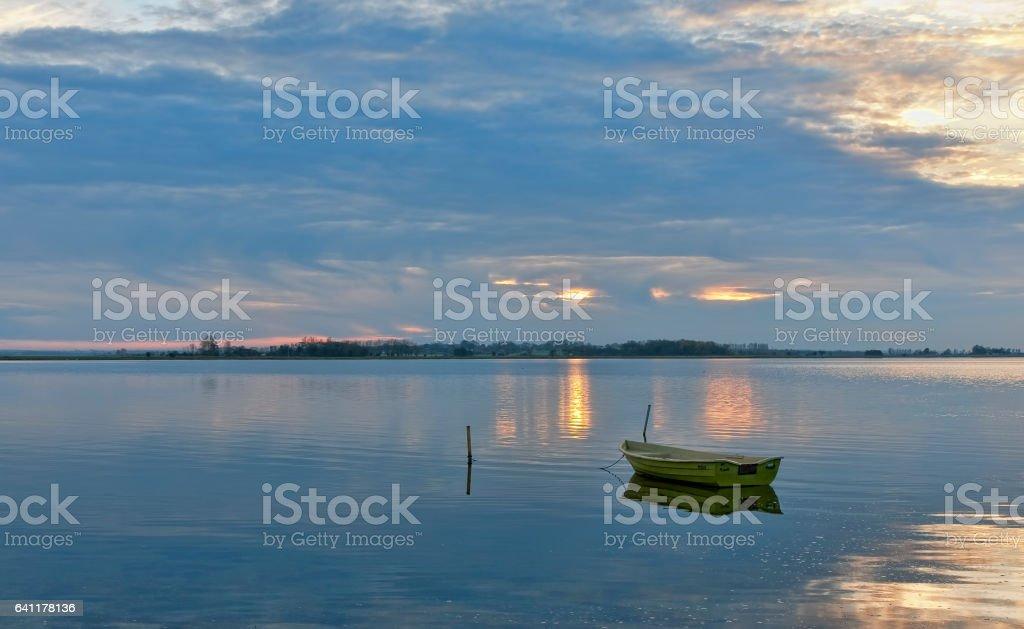 Sunset at the Coast stock photo