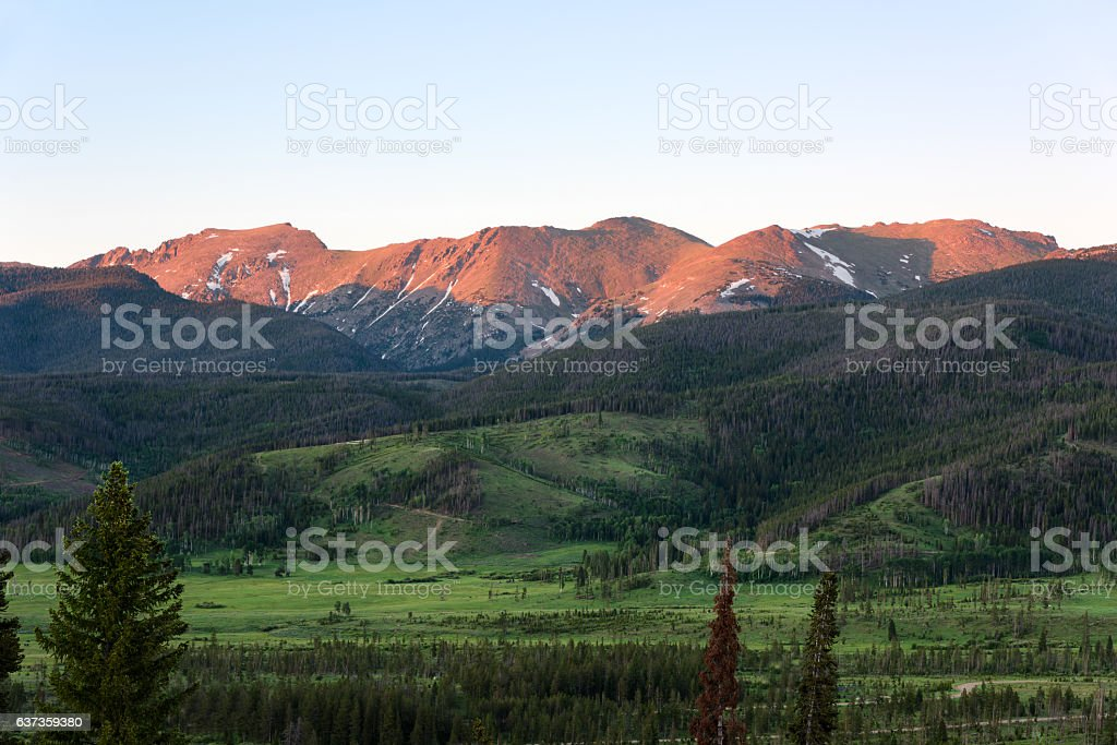 Sunset at the Continental Divide stock photo
