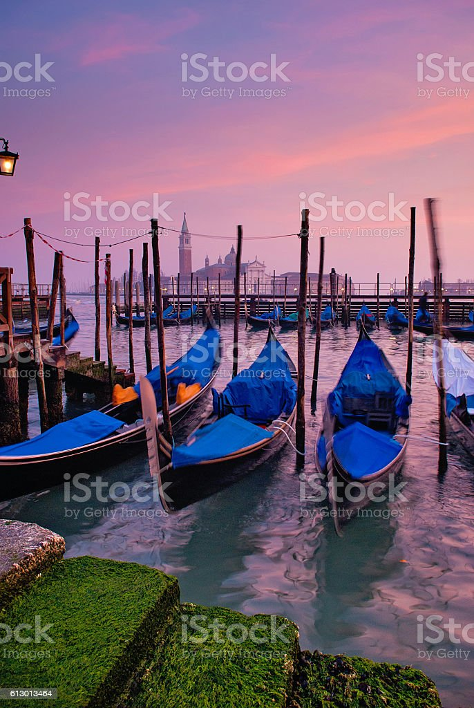 sunset at the grand canal stock photo