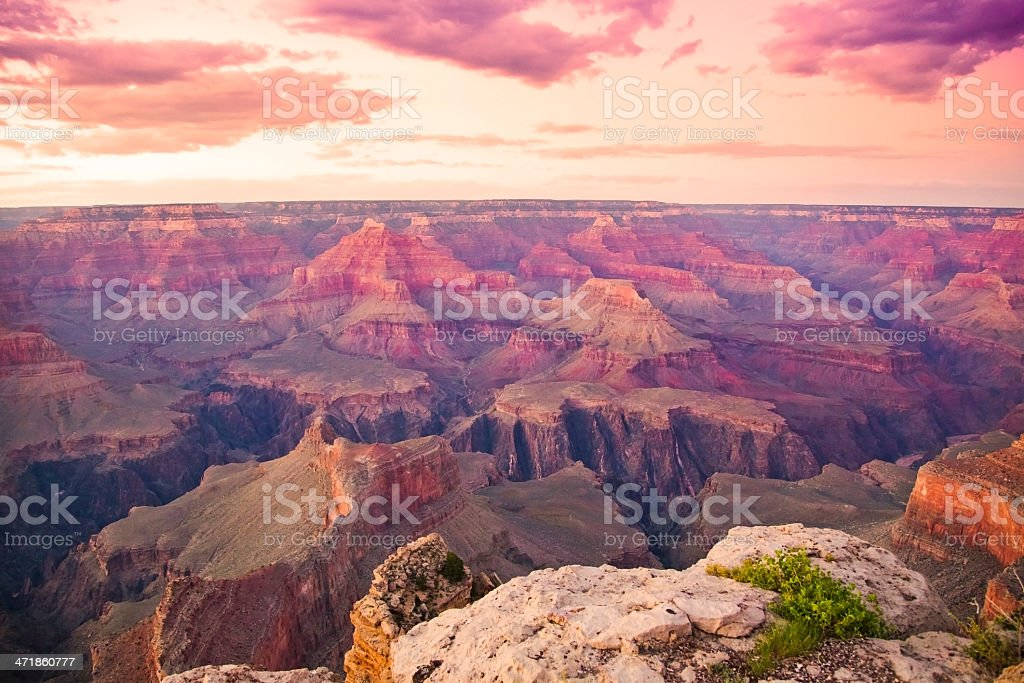 Sunset at the Grand Canyon royalty-free stock photo