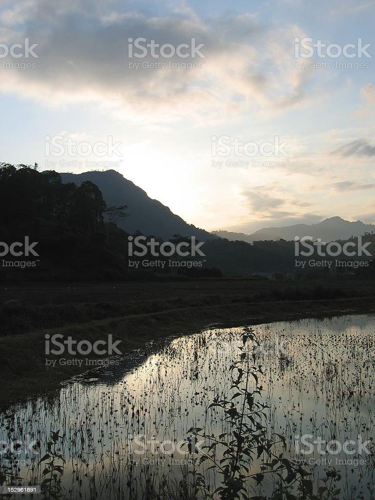 Sunset at the lake from londa to kete kesu stock photo