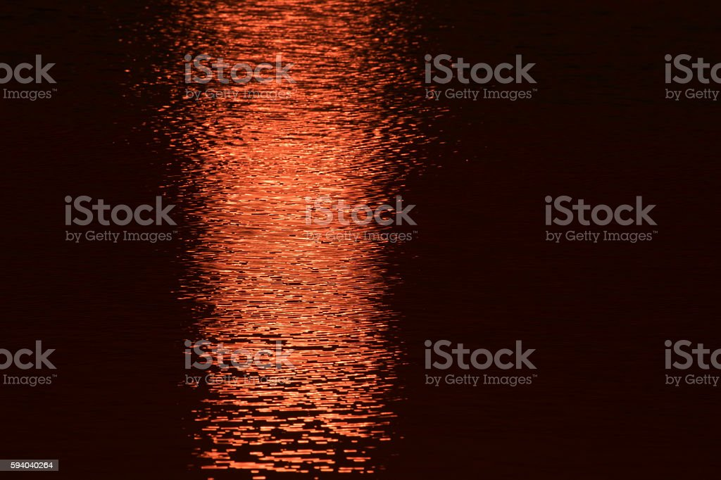 Sunset at the Sabie river stock photo