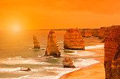 Sunset at Twelve Apostles in Australia