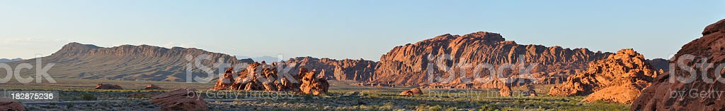 Sunset at Valley of Fire State Park royalty-free stock photo