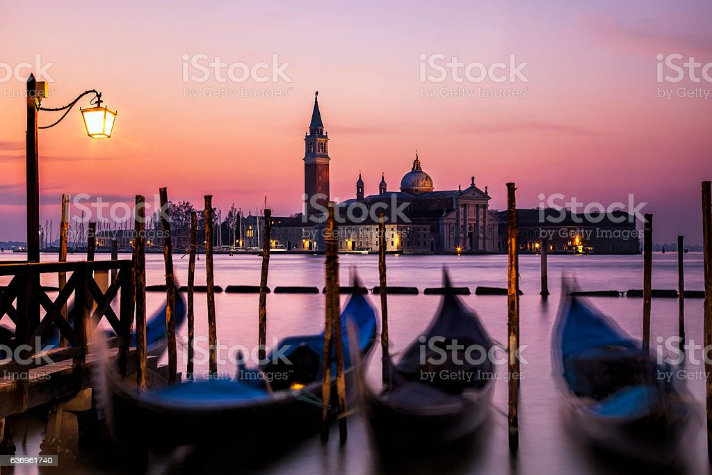 Sunset At Venice stock photo