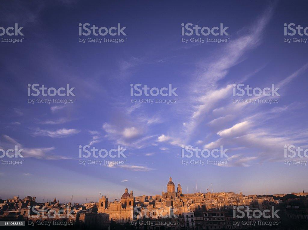 Sunset at Vittoriosa. royalty-free stock photo