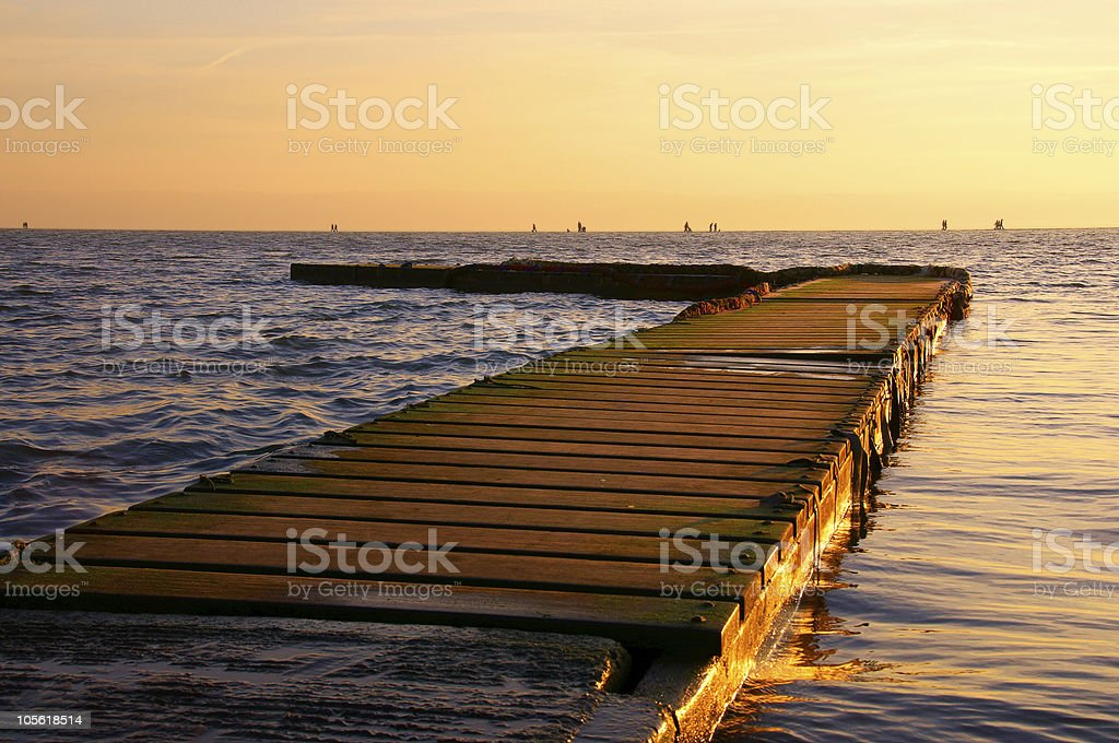 Sunset at West Kirby royalty-free stock photo