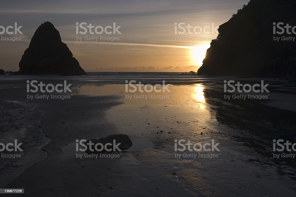 Sunset at Whale's Head Rock 5 royalty-free stock photo