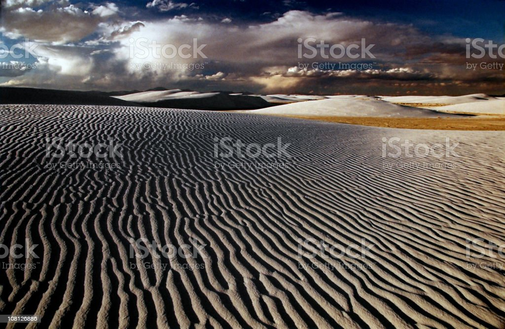 Sunset at White Sands stock photo