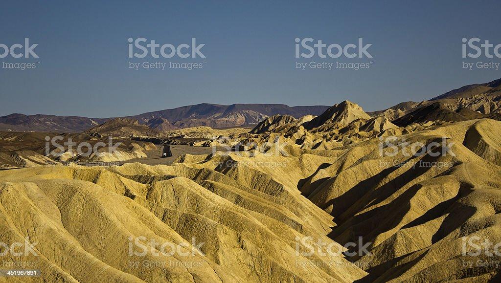 sunset at Zabriskie Point, Death Valley stock photo