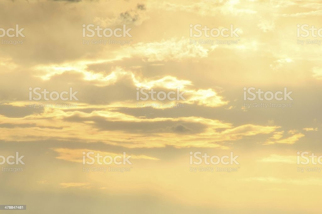 Sunset Background - Golden African Beauty and Wonder stock photo