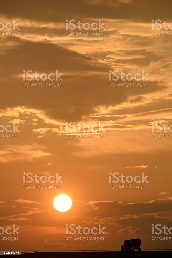 Sunset background stock photo