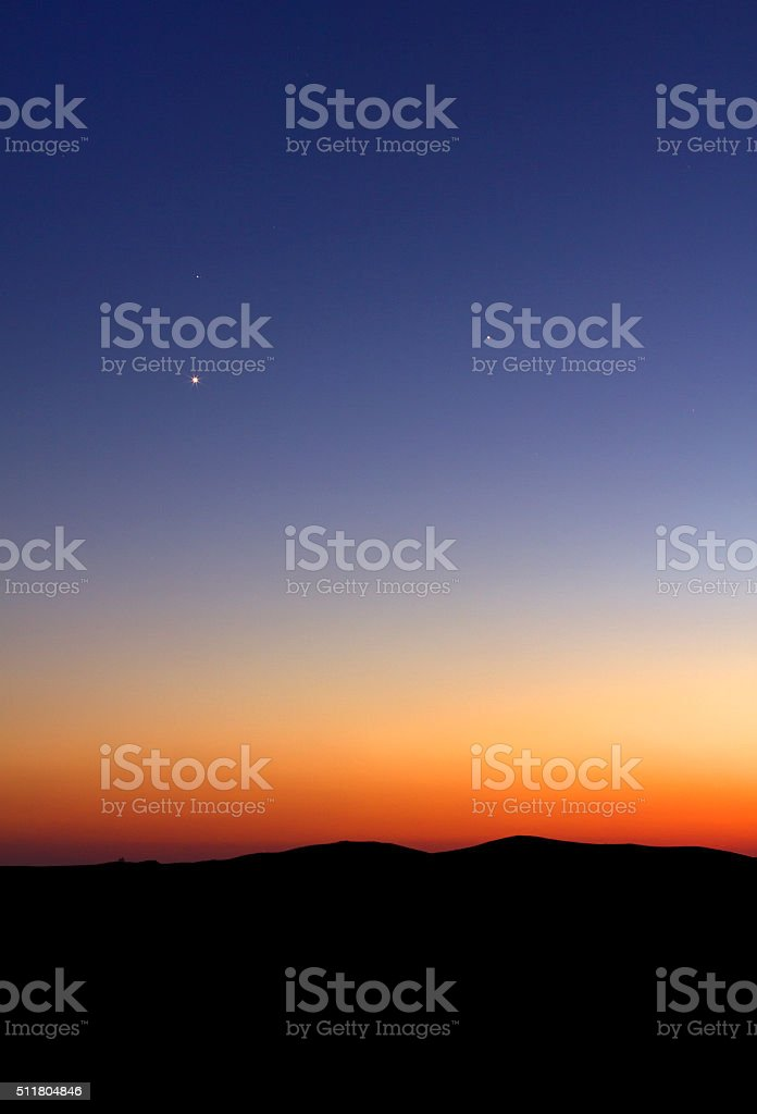 Sunset background stock photo