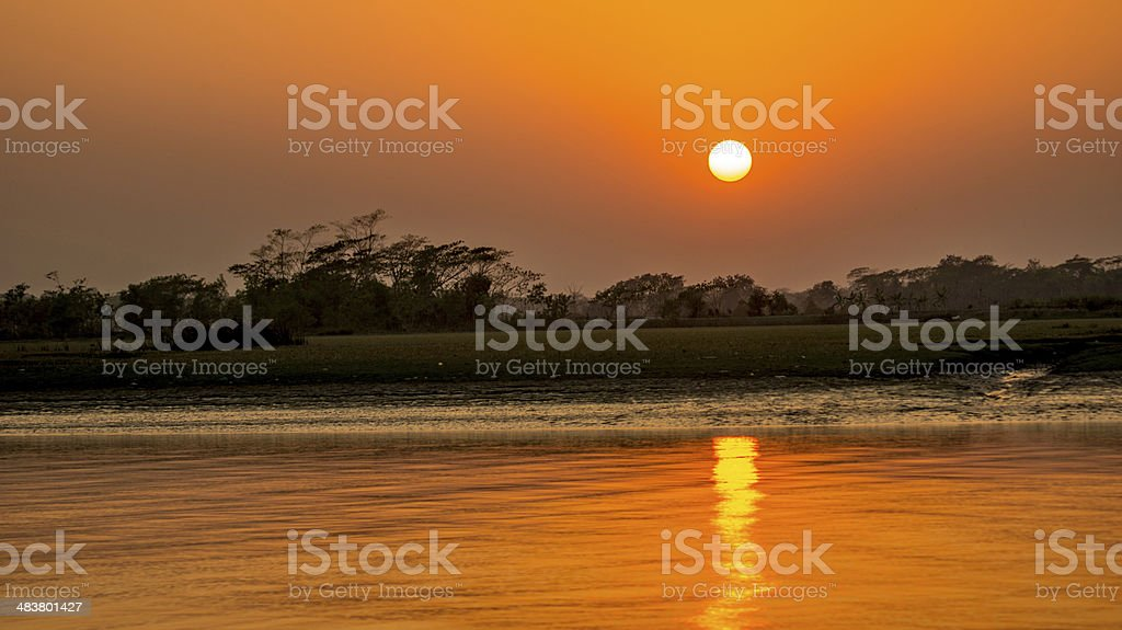 Sunset Bangladesh stock photo