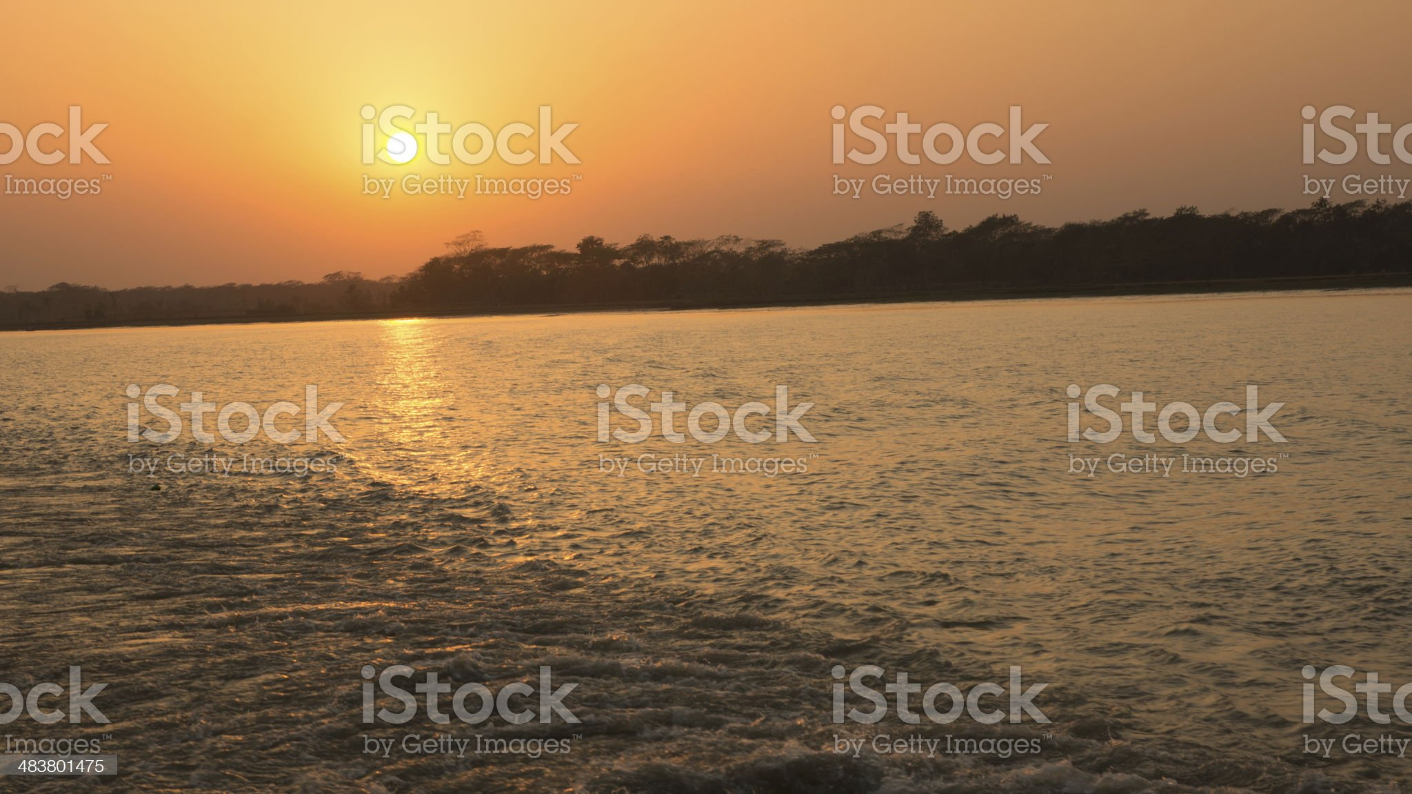 Sunset Bangladesh royalty-free stock photo