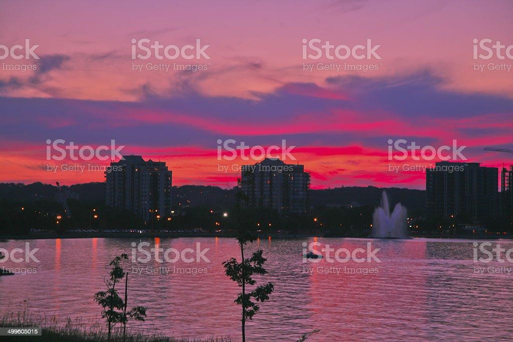 Sunset, Barrie, Ontario, Canada stock photo