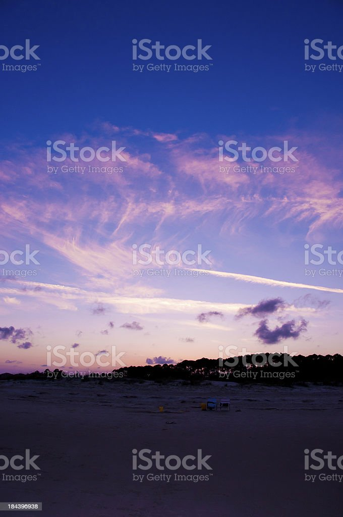 sunset beach and sky royalty-free stock photo