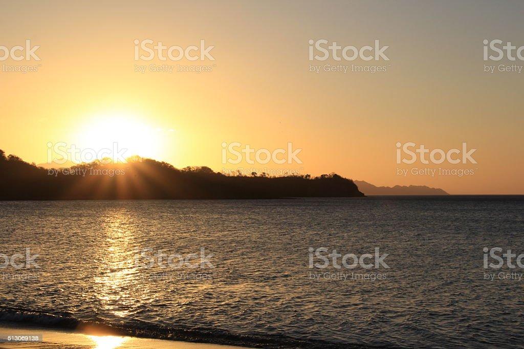 Sunset Beach Costa Rica stock photo