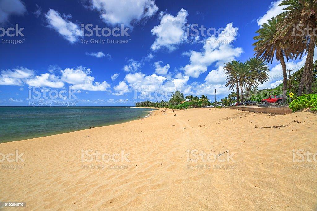 Sunset Beach Hawaii stock photo