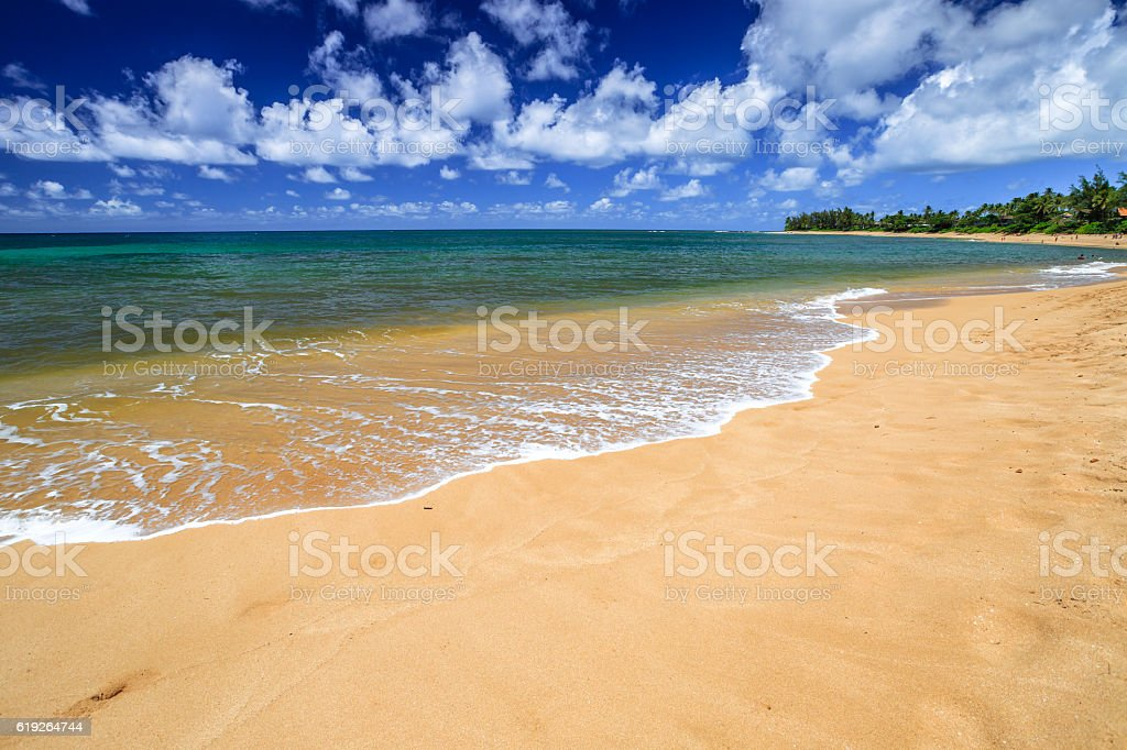 Sunset Beach Hawaii stock photo