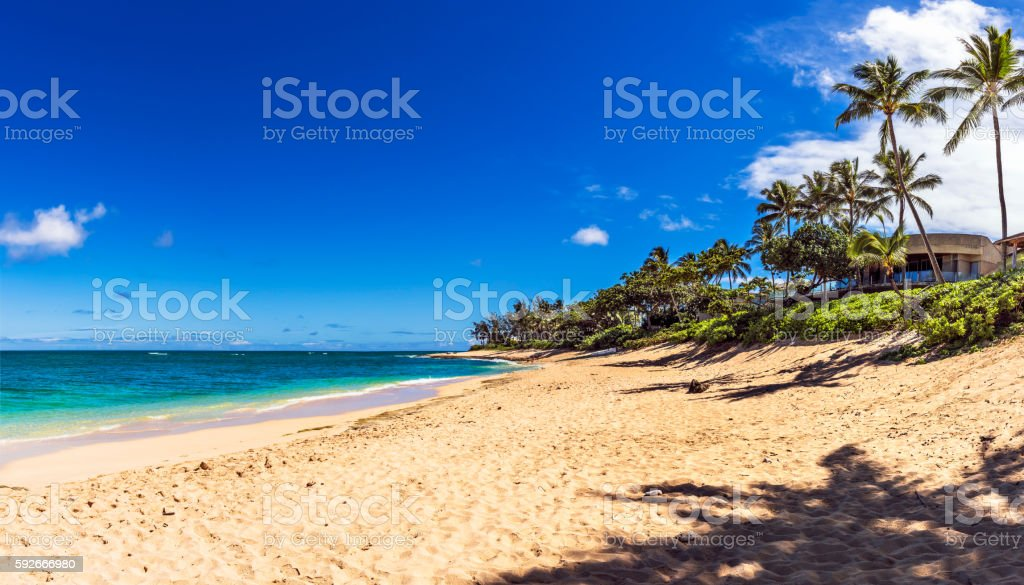 Sunset Beach, Oahu, Hawaii stock photo