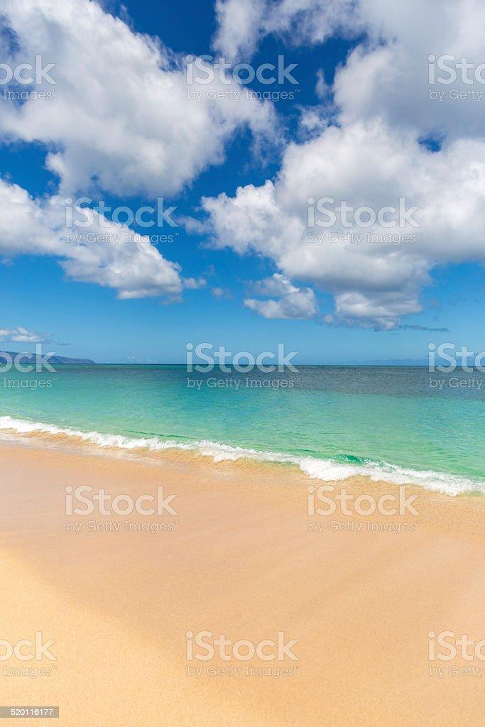 Sunset Beach on Sunny Day stock photo