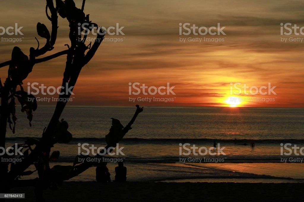 Sunset beach Phuket(sun, set, beach) stock photo