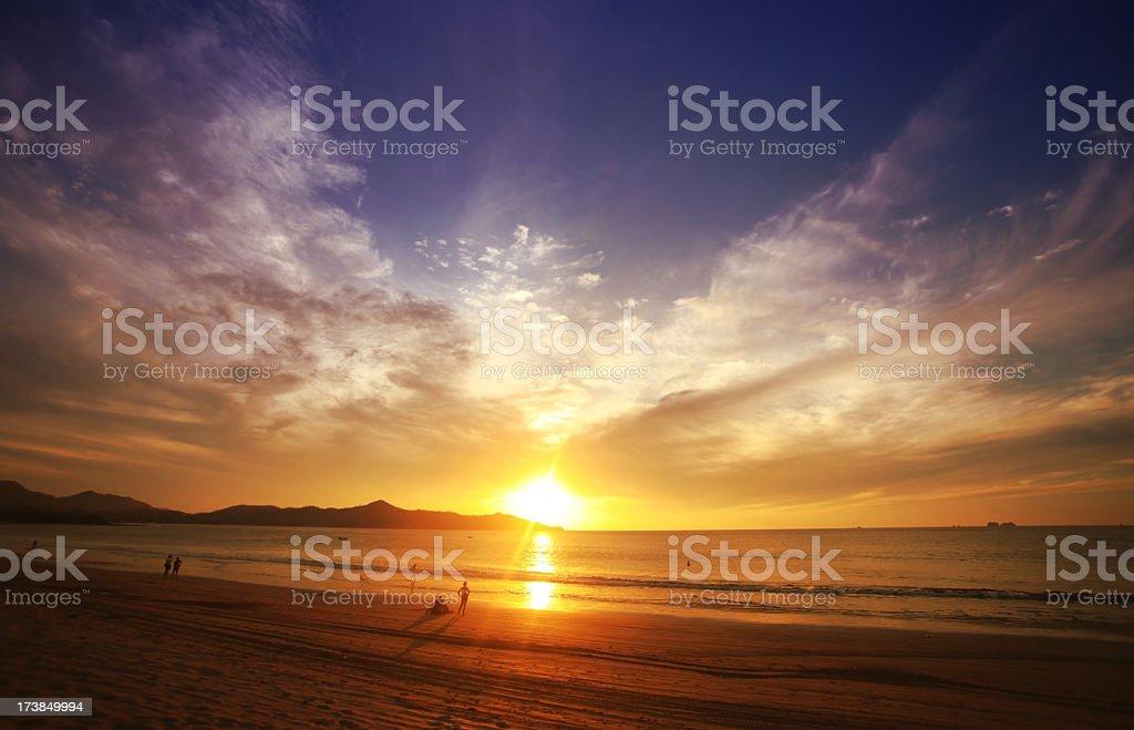 Sunset Beach royalty-free stock photo