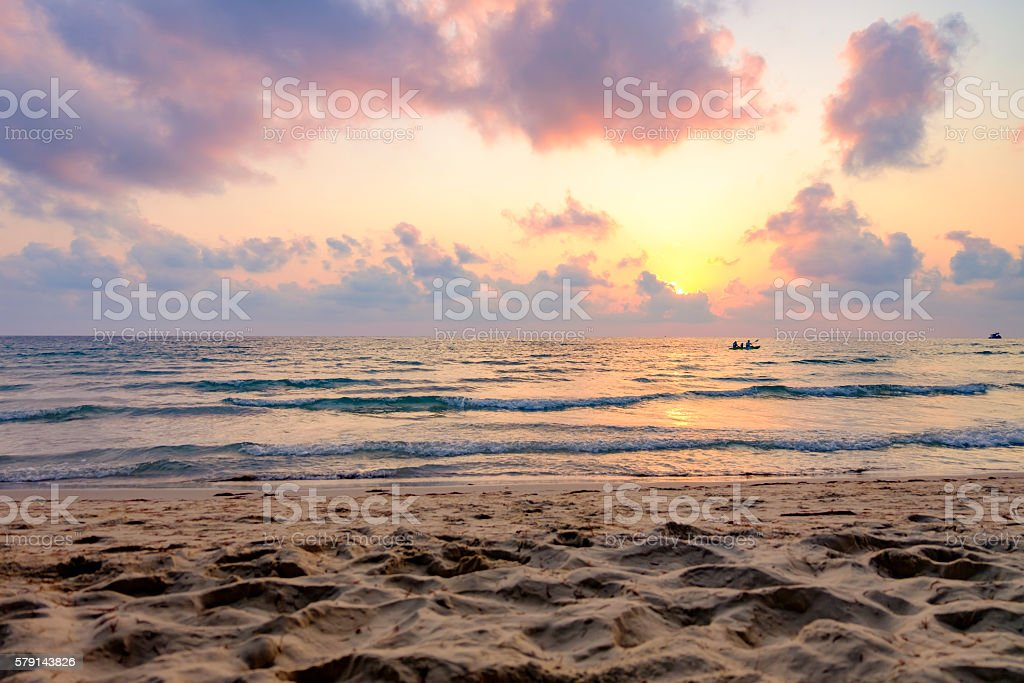 Sunset Beach stock photo