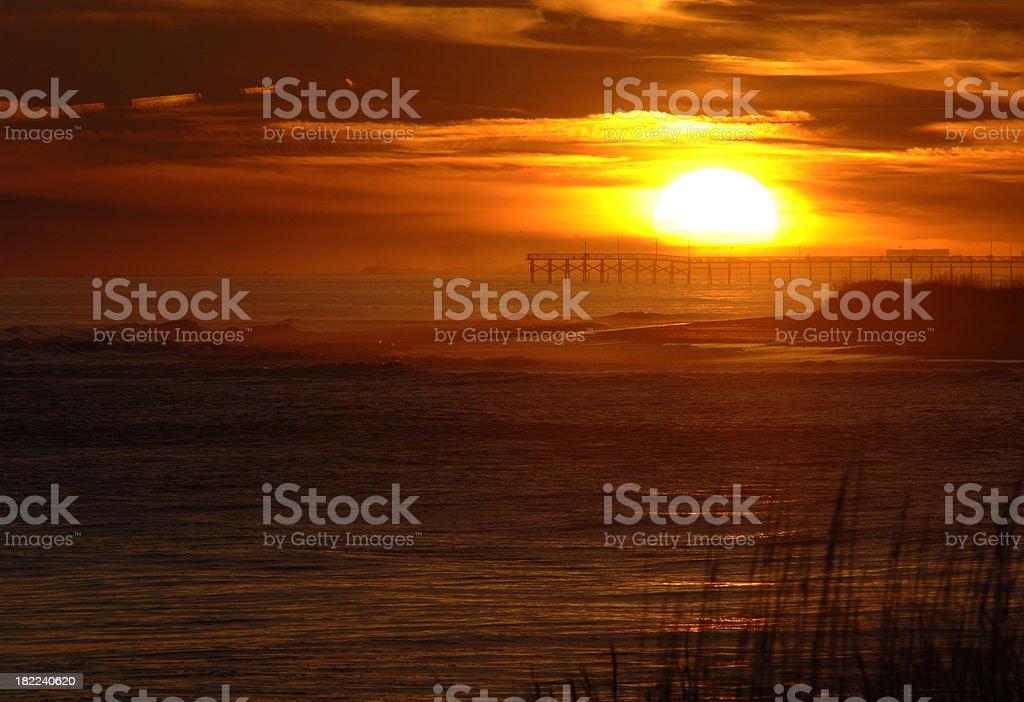 Sunset Beach Pier royalty-free stock photo
