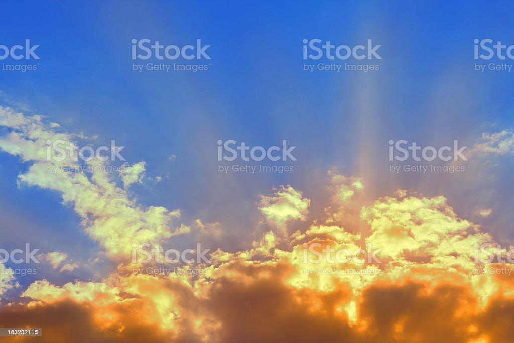 Sunset beams royalty-free stock photo